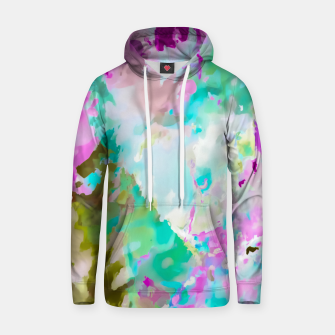 Thumbnail image of painting texture abstract background in blue pink green Hoodie, Live Heroes