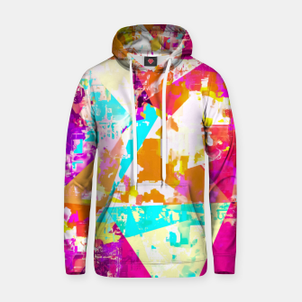 Thumbnail image of geometric triangle pattern abstract in pink blue purple Hoodie, Live Heroes