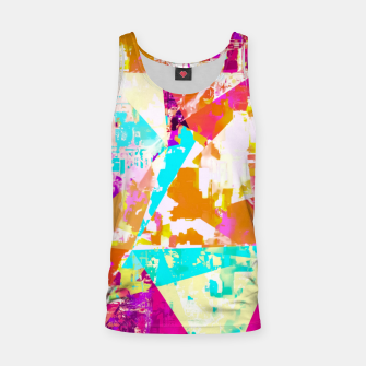Thumbnail image of geometric triangle pattern abstract in pink blue purple Tank Top, Live Heroes