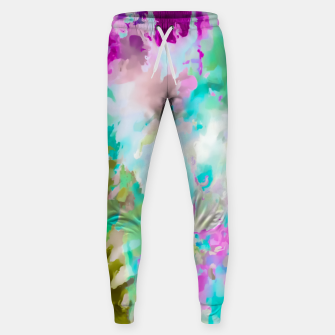 Thumbnail image of painting texture abstract background in blue pink green Sweatpants, Live Heroes
