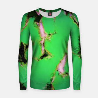 Soft green shatter Women sweater thumbnail image
