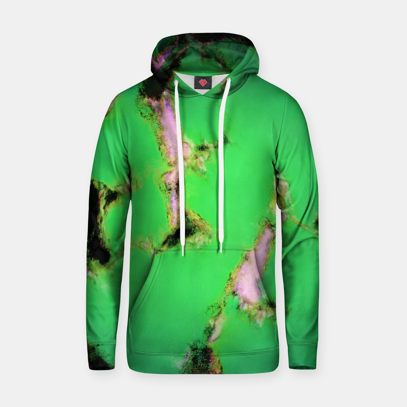 Image of Soft green shatter Hoodie - Live Heroes