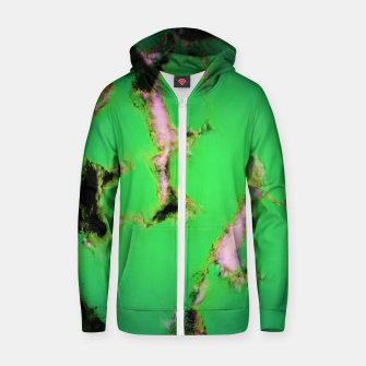 Soft green shatter Zip up hoodie thumbnail image