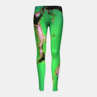 Soft green shatter Girl's leggings thumbnail image