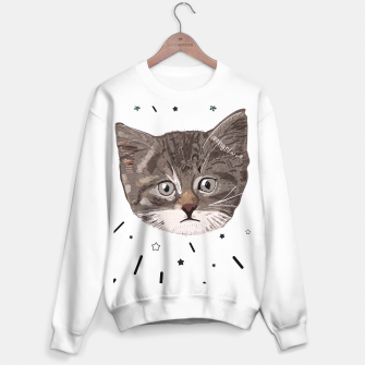 Miniatur Cute lovely cat with stars Sweater regular, Live Heroes