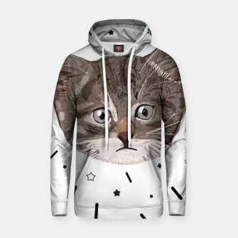 Miniatur Cute lovely cat with stars Hoodie, Live Heroes