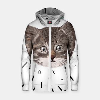 Miniatur Cute lovely cat with stars Zip up hoodie, Live Heroes