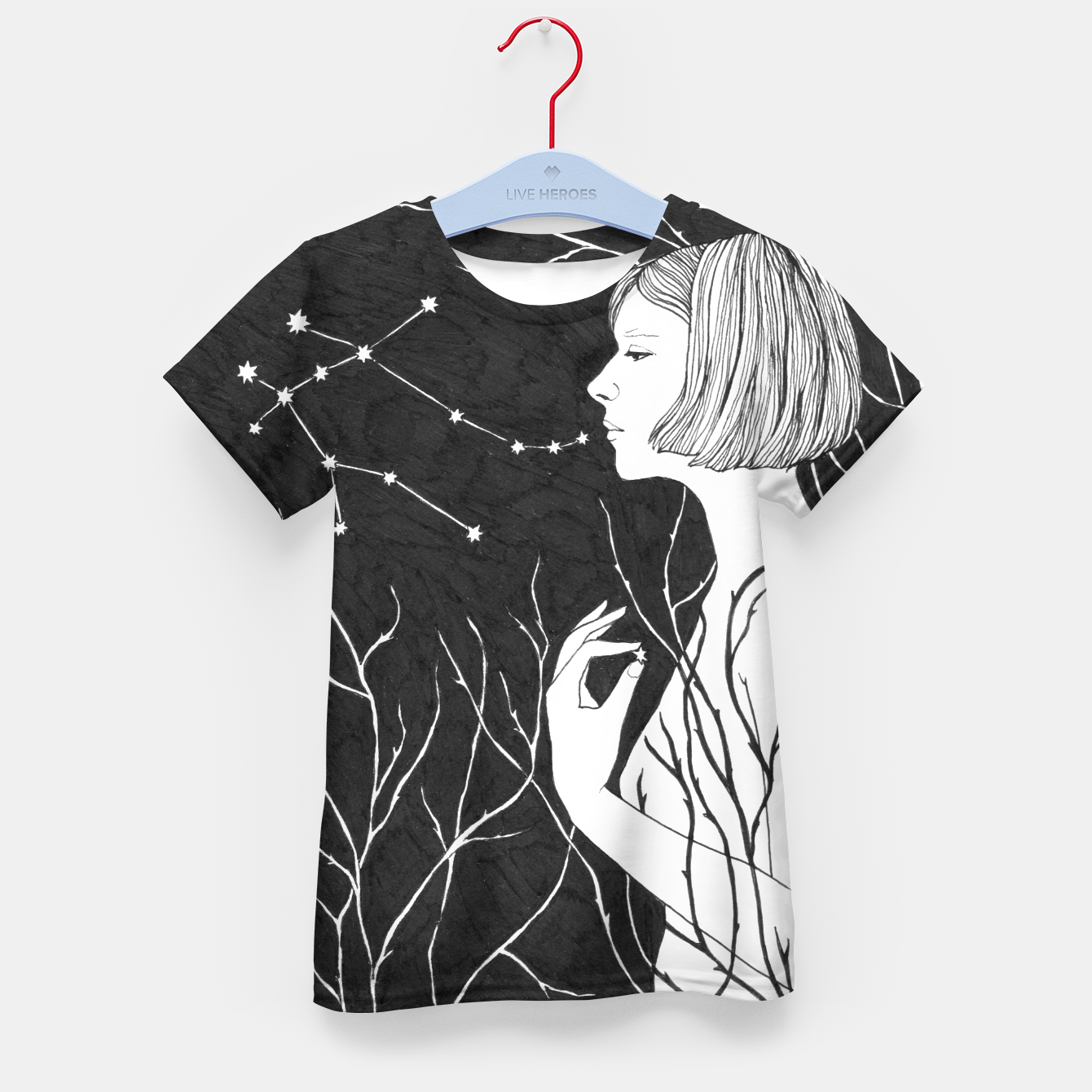 Image of Under Stars (Aurora Aksnes) Kid's t-shirt - Live Heroes