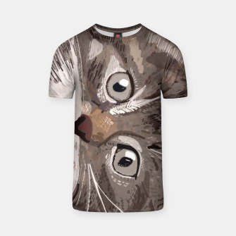 Miniatur Cute lovely cat with stars T-shirt, Live Heroes