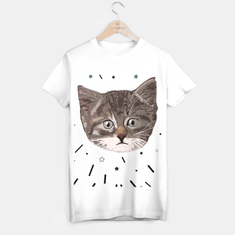 Thumbnail image of Cute lovely cat with stars T-shirt regular, Live Heroes