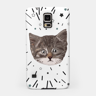 Miniatur Cute lovely cat with stars Samsung Case, Live Heroes