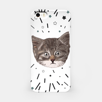 Miniatur Cute lovely cat with stars iPhone Case, Live Heroes