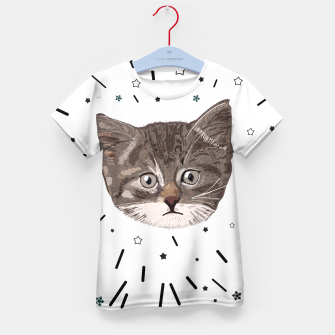 Thumbnail image of Cute lovely cat with stars Kid's t-shirt, Live Heroes