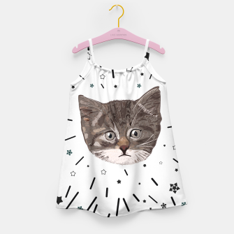 Miniatur Cute lovely cat with stars Girl's dress, Live Heroes