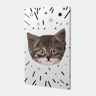Thumbnail image of Cute lovely cat with stars Canvas, Live Heroes