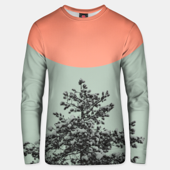 Thumbnail image of Snowy pine tree Unisex sweater, Live Heroes