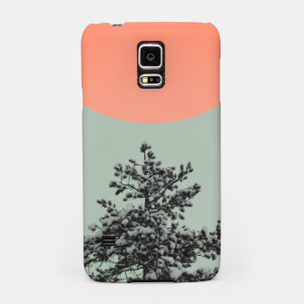 Miniatur Snowy pine tree Samsung Case, Live Heroes