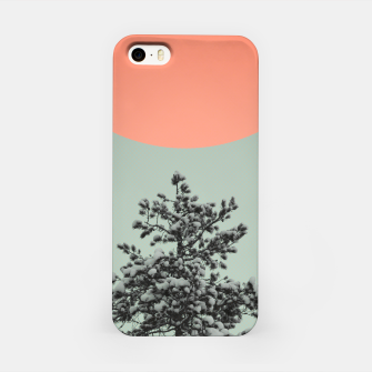 Miniatur Snowy pine tree iPhone Case, Live Heroes