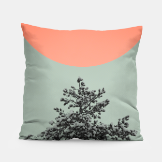 Miniatur Snowy pine tree Pillow, Live Heroes