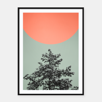 Miniatur Snowy pine tree Framed poster, Live Heroes