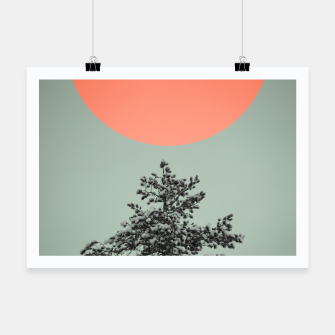 Miniatur Snowy pine tree Poster, Live Heroes
