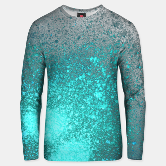 Thumbnail image of Aqua Grey Abstract Spray Paint Unisex sweater, Live Heroes