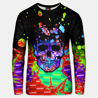 Thumbnail image of Chromatic Skull Splatter Unisex sweater, Live Heroes
