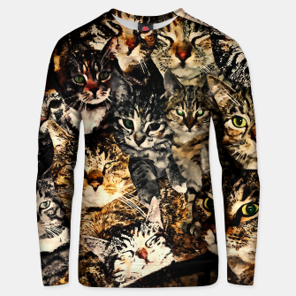 Thumbnail image of cat collage our beloved kitten cats watercolor splatters Unisex sweater, Live Heroes