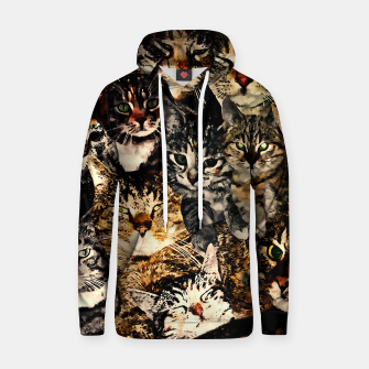 Thumbnail image of cat collage our beloved kitten cats watercolor splatters Hoodie, Live Heroes