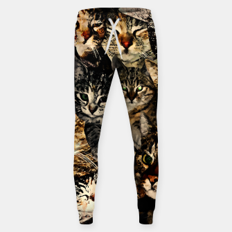 Thumbnail image of cat collage our beloved kitten cats watercolor splatters Sweatpants, Live Heroes