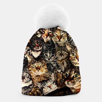 Thumbnail image of cat collage our beloved kitten cats watercolor splatters Beanie, Live Heroes
