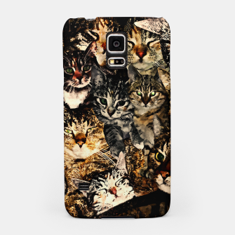 Thumbnail image of cat collage our beloved kitten cats watercolor splatters Samsung Case, Live Heroes