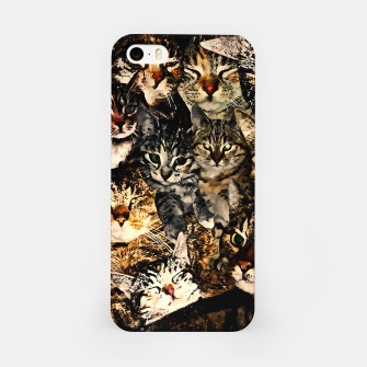 Thumbnail image of cat collage our beloved kitten cats watercolor splatters iPhone Case, Live Heroes