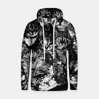Thumbnail image of cat collage our beloved kitten cats watercolor splatters black white Hoodie, Live Heroes