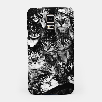 Thumbnail image of cat collage our beloved kitten cats watercolor splatters black white Samsung Case, Live Heroes