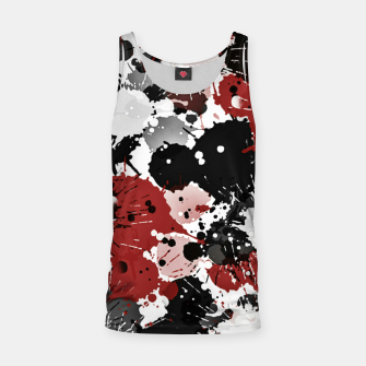 Thumbnail image of Black and red abstract Tank Top, Live Heroes