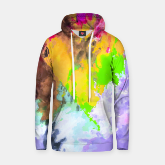 Thumbnail image of painting texture abstract background in purple yellow green pink Hoodie, Live Heroes
