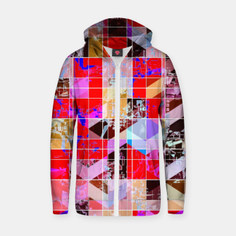 Miniature de image de geometric square and triangle pattern abstract in red pink blue Zip up hoodie, Live Heroes
