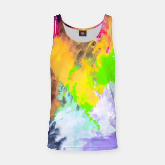 Thumbnail image of painting texture abstract background in purple yellow green pink Tank Top, Live Heroes