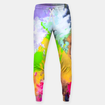 Thumbnail image of painting texture abstract background in purple yellow green pink Sweatpants, Live Heroes