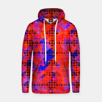 Thumbnail image of geometric circle and square pattern abstract in red orange blue Hoodie, Live Heroes