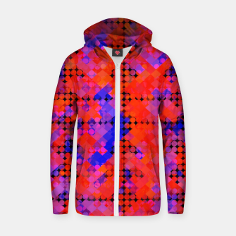 Miniature de image de geometric circle and square pattern abstract in red orange blue Zip up hoodie, Live Heroes