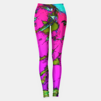 Thumbnail image of Shattering pink tigers Leggings, Live Heroes