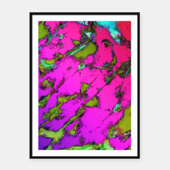Thumbnail image of Shattering pink tigers Framed poster, Live Heroes