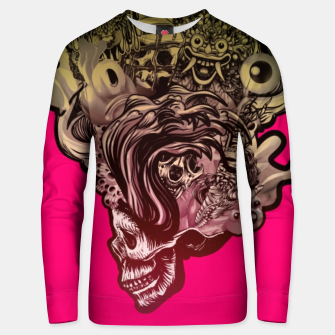 Thumbnail image of Head Blown Skull Unisex sweater, Live Heroes