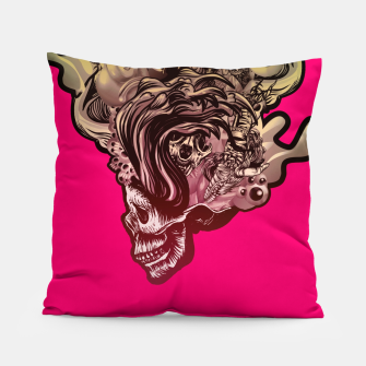 Thumbnail image of Head Blown Skull Pillow, Live Heroes