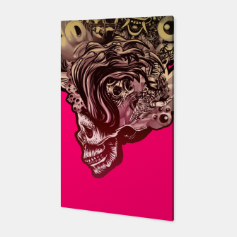 Thumbnail image of Head Blown Skull Canvas, Live Heroes