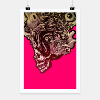 Thumbnail image of Head Blown Skull Poster, Live Heroes