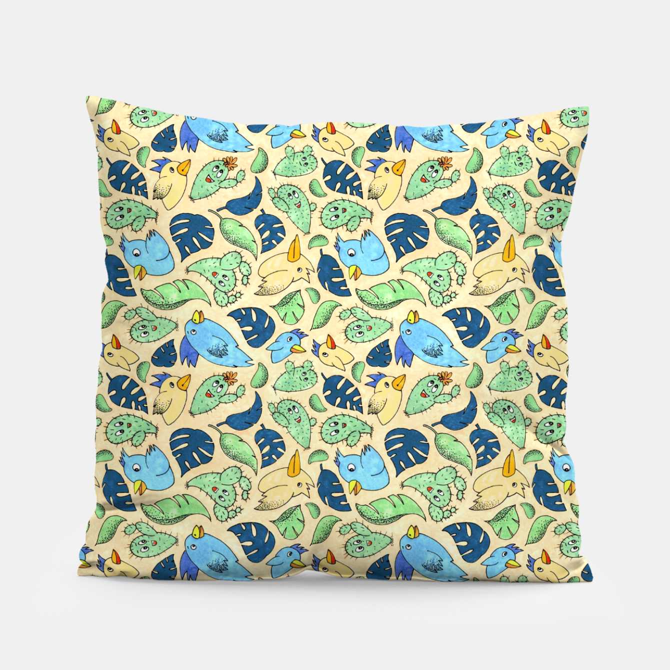 Image of Birds and Plants – Pillow - Live Heroes