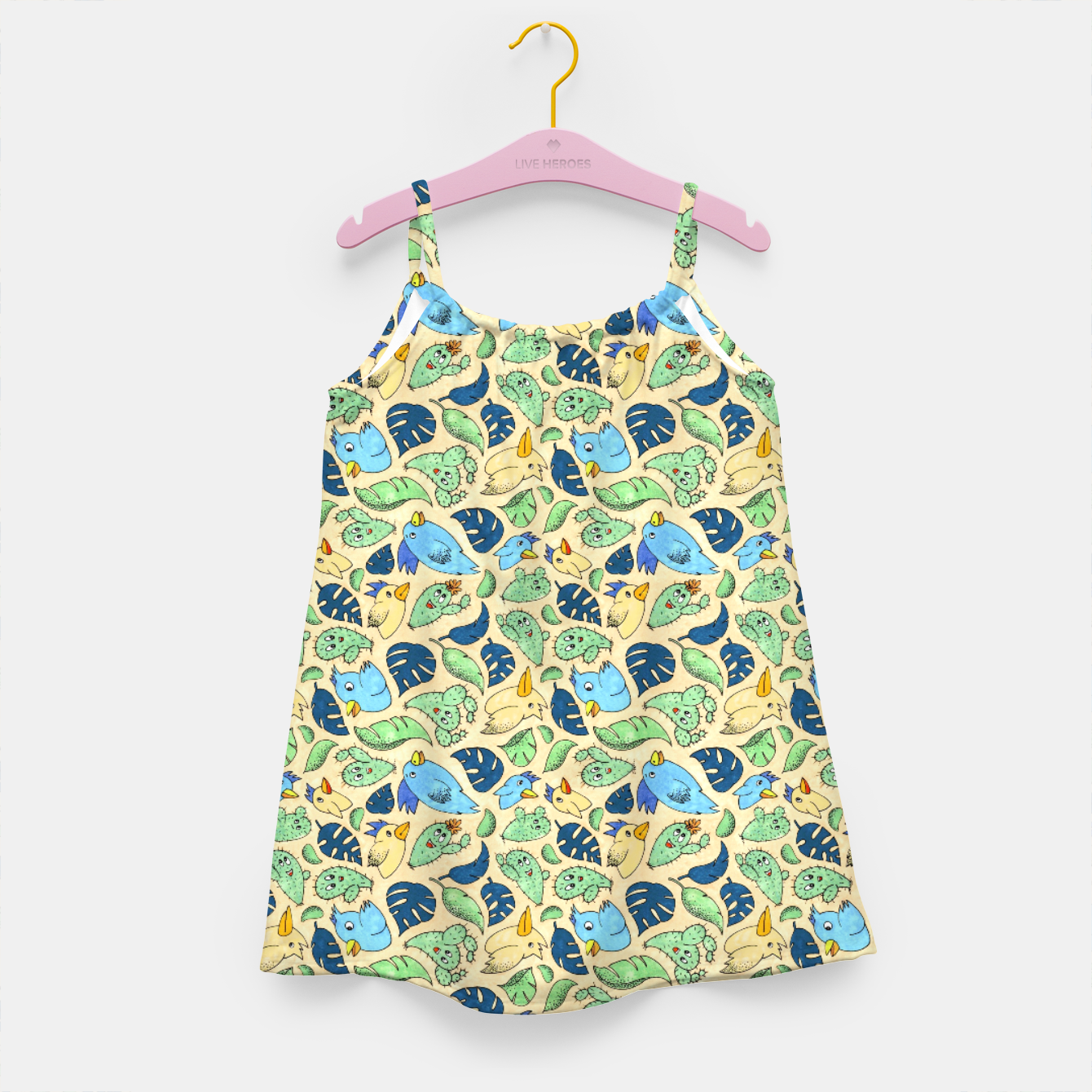 Image of Birds and Plants – Girl's dress - Live Heroes
